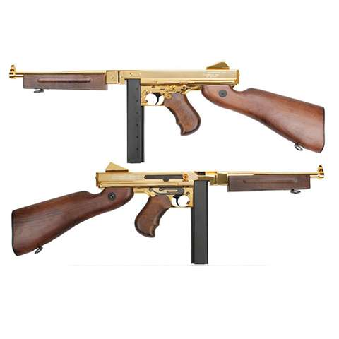 Thompson M1A1 Military - Gold, Full metall m/ekte