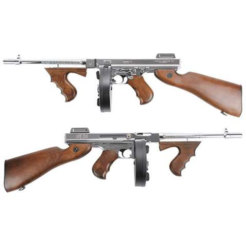 Thompson M1928 - Silver & Real Wood, AEG