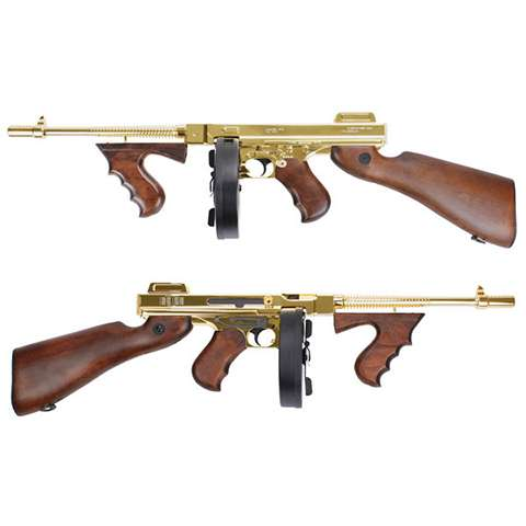 Thompson M1928 - Gold & Real Wood, AEG