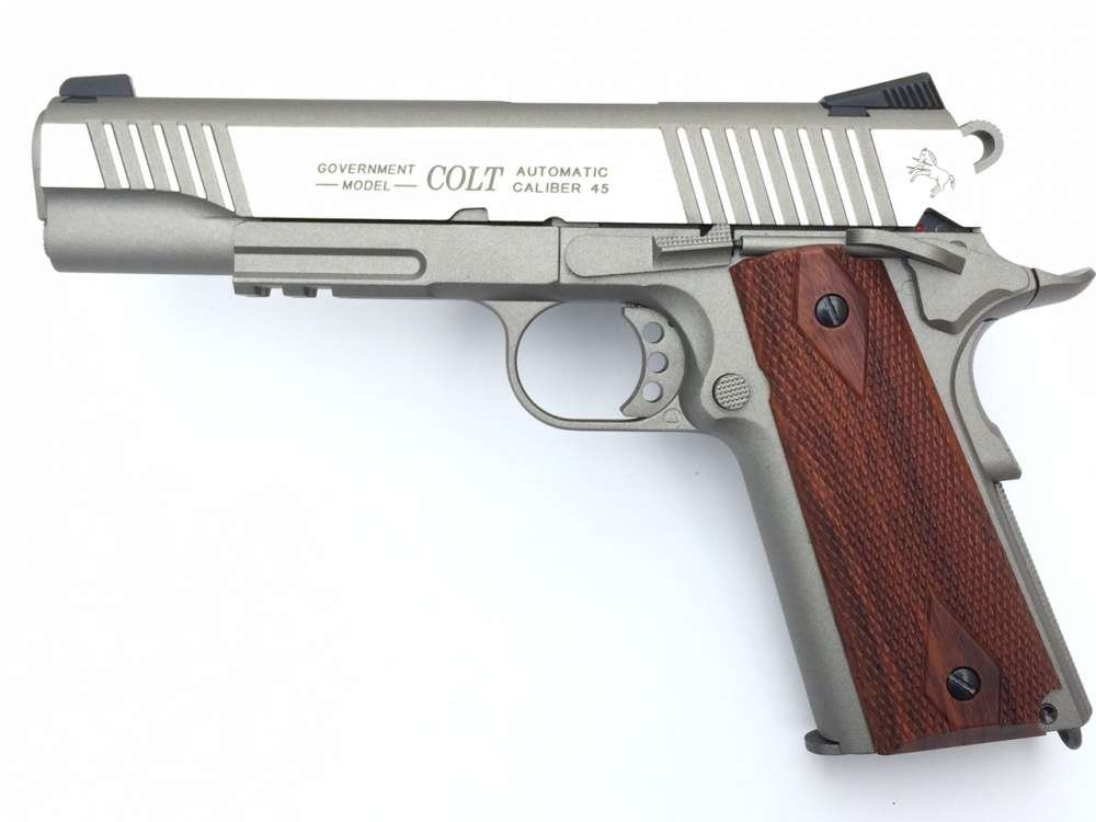 Colt 1911 Rail Gun ST Full Metall & Blow Back, Co2