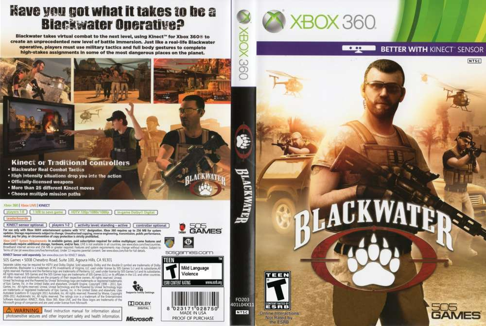 Blackwater - Kinect for XBOX 360, FPS