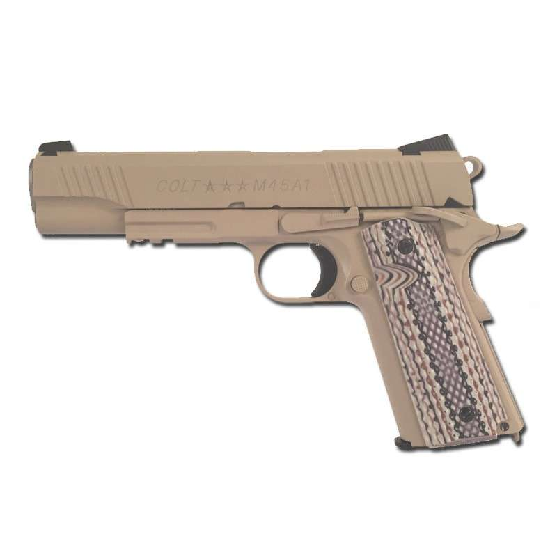 Colt 1911 Rail Gun TAN Full Metall & Blow Back, Co