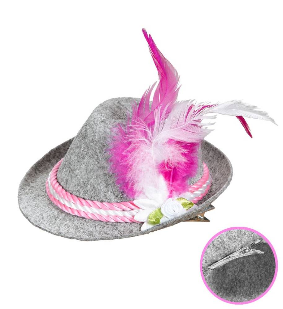 Mini Bavarian Fedora - Rosa